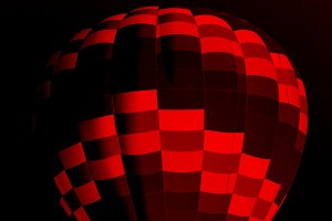 Red and Black Hot Air Balloon