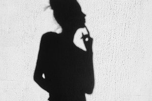 Shadow of girl