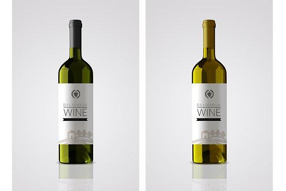 Download Bottle wine label mockup