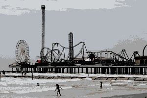 Pleasure Pier in Galveston, Texas
