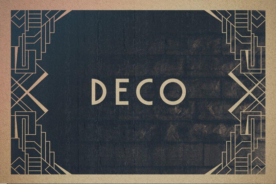 16 Art Deco Borders Graphics Creative Market