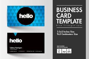 Business Card - Blue Triangle Spot