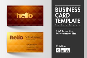 Business Card - Red Gold Triangle