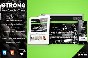 Strong- WP Gym & Sport Theme