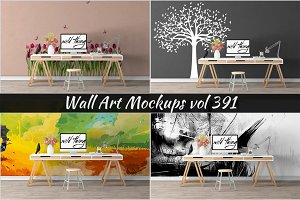 Wall Mockup - Sticker Mockup Vol 391