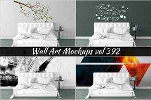 Wall Mockup - Sticker Mockup Vol 392