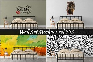Wall Mockup - Sticker Mockup Vol 393