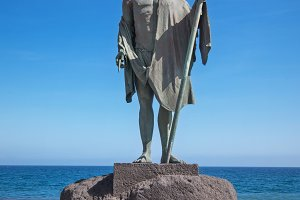 Sculpture of the guanche mencey