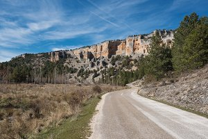 River wolves canyon in Soria, Spain.
