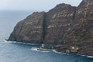 landscape of La Gomera cliffs