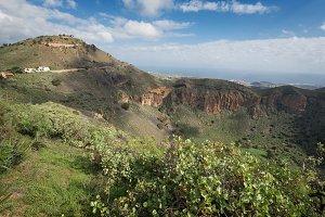 Volcanic crater, Caldera de Bandama
