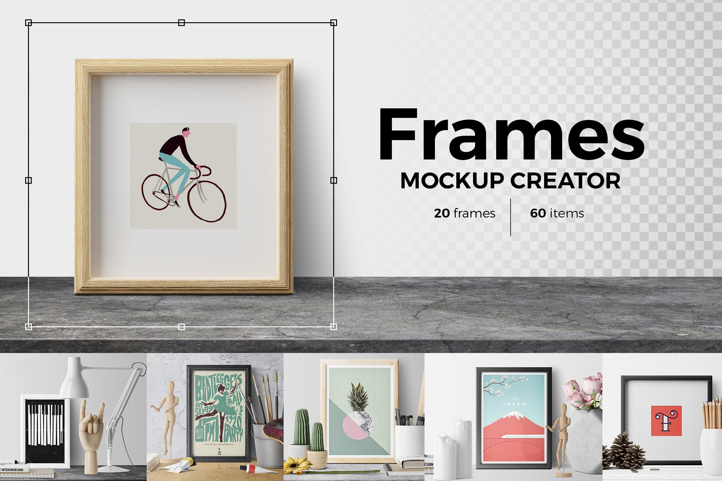 Frames. Mockup Creator ~ Product Mockups ~ Creative Market