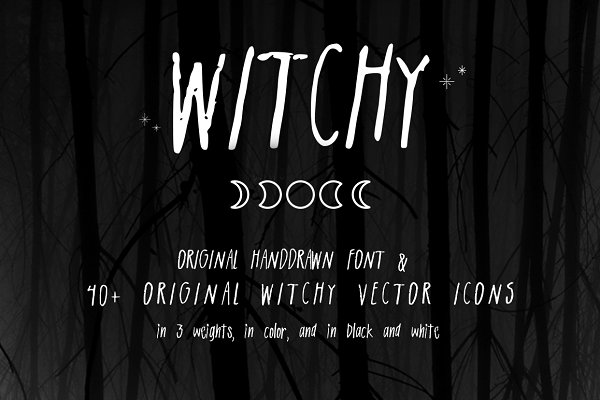 Witchy: Vector Pack + Font