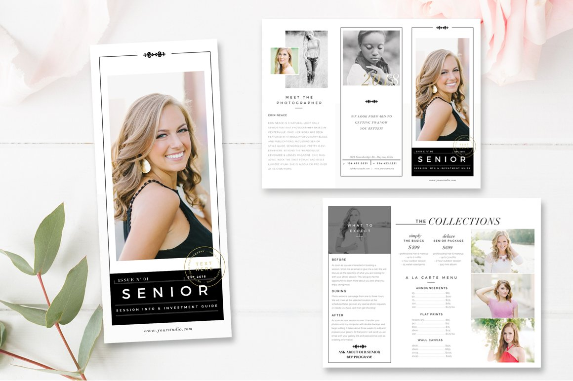 photography brochure template - senior photography brochure template brochure templates