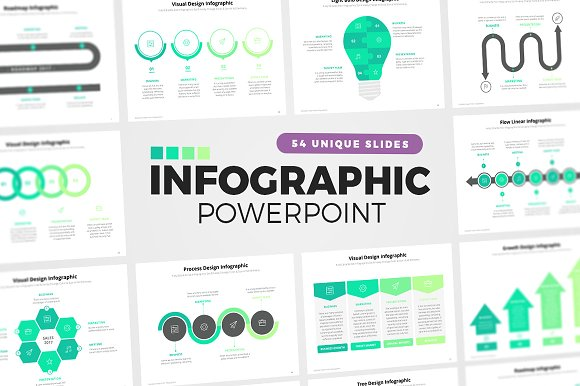 54 powerpoint infographic elements presentation templates