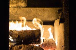 Roaring Christmas Fire