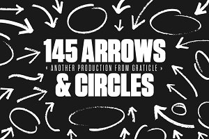 145 Arrows & Circles (Vector)
