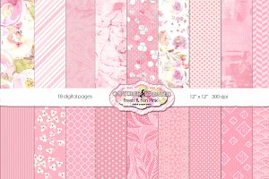 Fresh & Fun 18 Paper Pack Pink