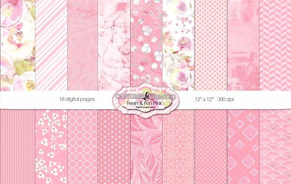 Fresh Fun 18 Paper Pack Pink
