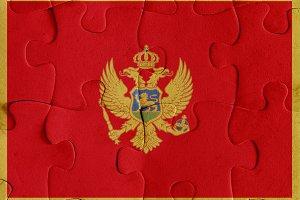 Montenegro flag puzzle