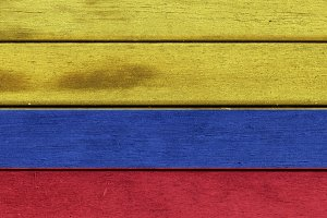 Colombia wooden flag