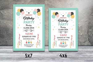 Birthday Party Invitation Flyer-V550