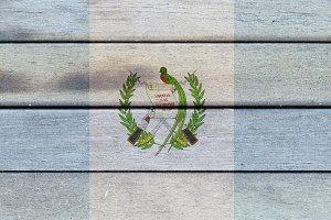 Guatemala wooden flag