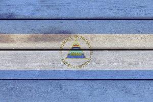Nicaragua wooden flag