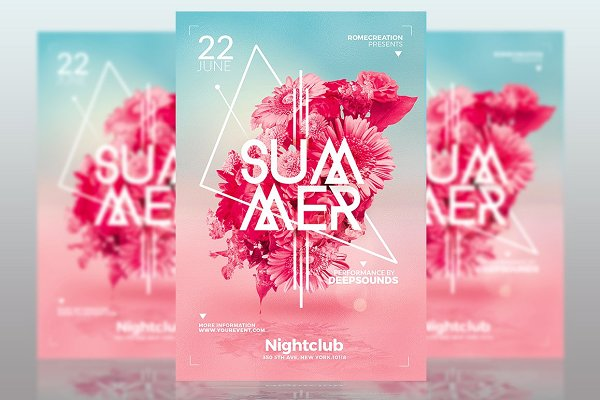 Minimalist Summer Templates x4