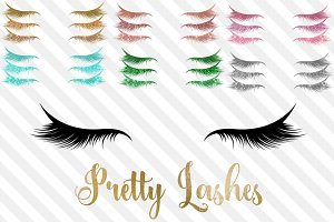 Pretty Eye Lashes Clipart