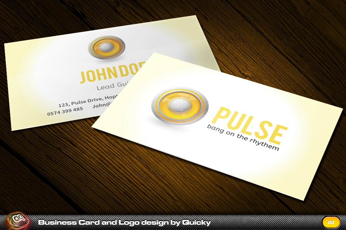 Pulse business card and logo design business card templates pulse business card and logo design business card templates creative market magicingreecefo Image collections