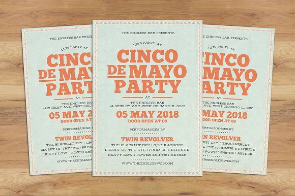 Cinco De Mayo Typography Flyer