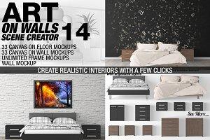 Canvas Mockups - Frames Mockups v 14