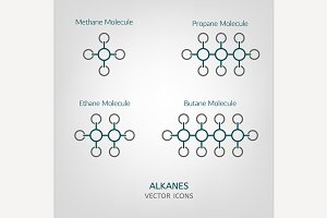 Alkanes Vector Icons