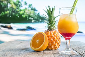 pineapple and orange cocktail