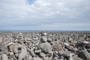 beach full of stones