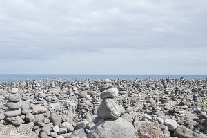beach full of stones