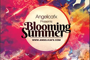 Blooming Summer Flyer Template