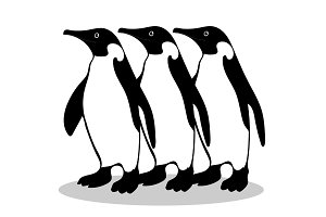 Penguin friendship symbol loyalty