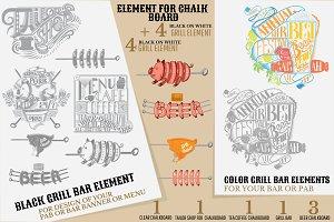 Elements for chalkboard