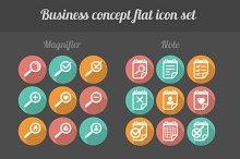 32 flat business icon set