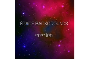 Space backgrounds. Vector