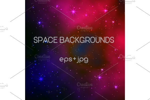 Space Backgrounds Vector