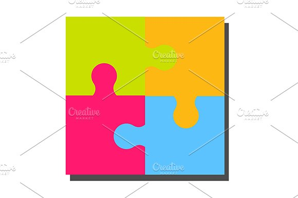 Colourful Puzzle Pieces Eps Jpg