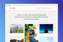 Floro Tumblr Photo Theme by  in Tumblr