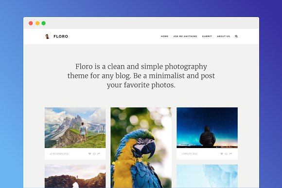 Floro Tumblr Photo Theme