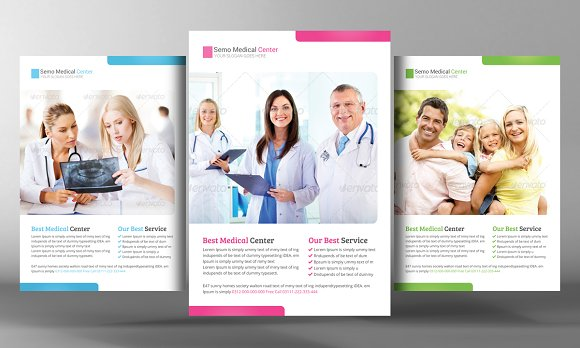 Health Care Flyer Template Flyer Templates on Creative Market – Health Brochure Template