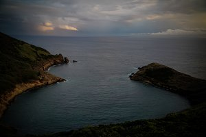Sunset view mount Guia, Faial island, Azores, Portugal