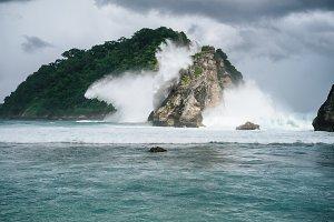 Tropical Cliff Atuh Beach