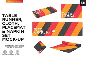 Table Runner, Napkin & more Mock-up